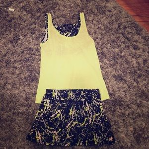 ivivva tank top with matching set the pace skirt